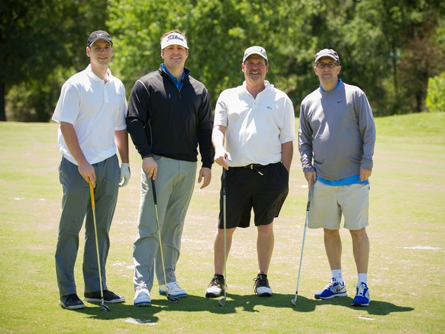 3 Jared Crane, from left, Jamie Frederick, Ray Anderson and Jeff Van Gundy at the Children's Museum Spring Golf Classic April 2014