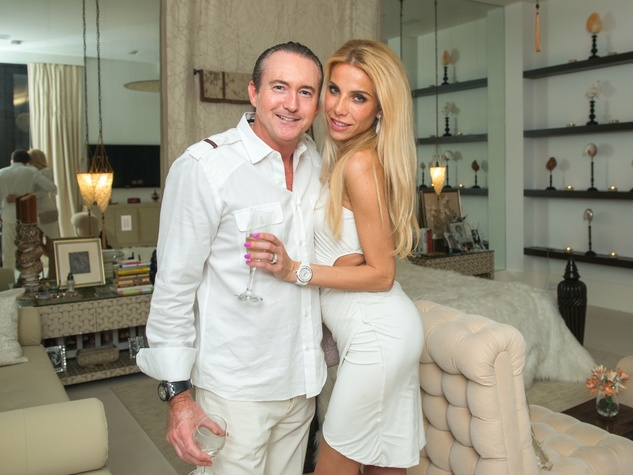 13 Mark and Yuliia Faist at the Texans White Party September 2014