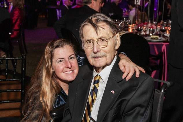 "11 7908 Sara Duke and Dr. James H. ""Red"" Duke Jr. at the UT Health Gala November 2014"