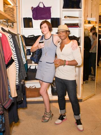 Krista Kleban-Jones and Garrett Kleban-Jones at Steven Alan store opening in Dallas