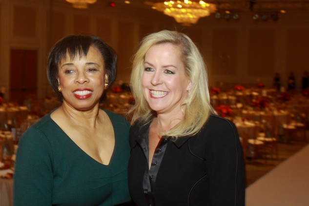 96 Phyllis Williams, left, and Rosemary Schatzman at the Child Advocates luncheon December 2013