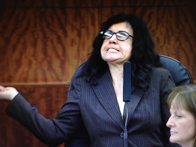 Ana Trujillo stiletto heel murder in court during examinations Thursday, April 10, 2014
