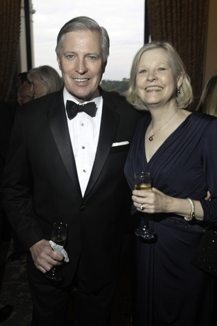 News, Baker Institute dinner, April 2015, Larry George, Karen George