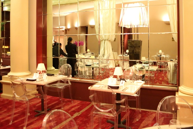 52 More tables Wortham Center Founder's Salon makeover March 2015
