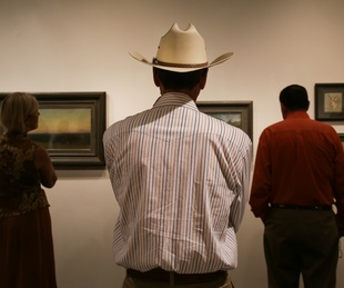 West by Southwest Harry Ransom Center exhibit interior cowboy hat September 2015