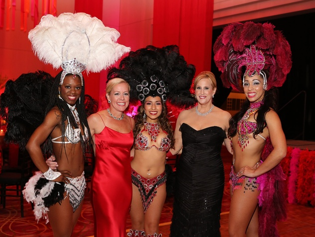 198 Houston SPA gala April 2013 showgirls with Rosemary Schatzman, second from left, and Vanessa Sendukas