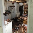 Jody Stevens fire damanged home