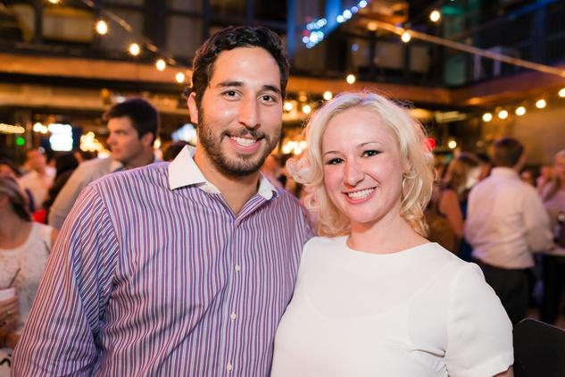 Louis Para and Sarah Schmidt at the RedBuds Membership Drive October 2014