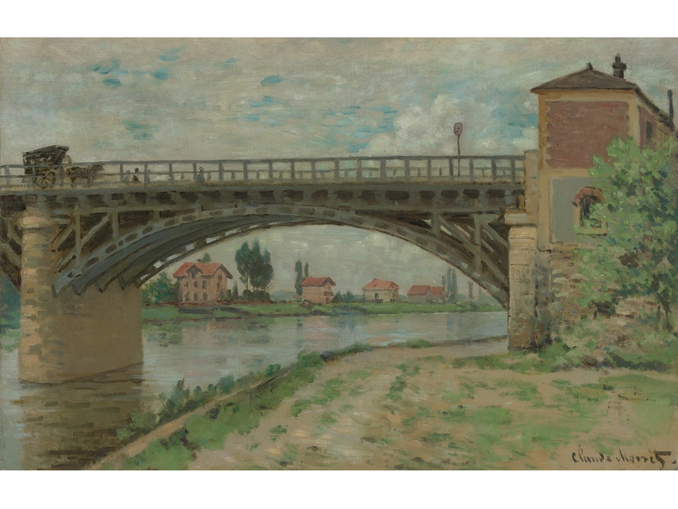 MFAH Monet and the Seine Impressions of a River October 2014 Claude Monet - The Highway Bridge viewed from the Port (Le Pont d'Argenteuil)
