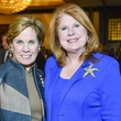Maureen Hackett, left, and Joni Baird at the National Philanthropy Day luncheon November 2013