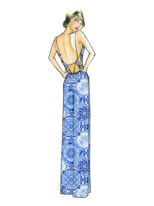 Fashion Week spring summer 2014 Daisy Fuentes sketch