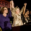 Annise Parker hands raised