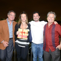 8 Michael Cordua, from left, Julie Soefer, David Cordua and John DeMers at the Cordua cookbook event November 2013