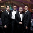32 Xavier Pena, from left, Jeff Falk, Scott Sawyer and Barry Mandel at Gala on the Green February 2014