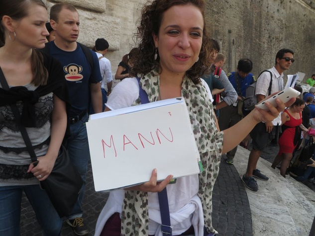 Jane Howze trip to Rome September 2014 Our guide shows up