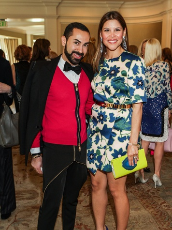 Fady Armanious and Estela Cockrell at the Passion for Fashion luncheon March 2014