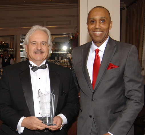 Jeff Dodd, left, and Leonard M. Baynes at the UH Law Gala March 2015