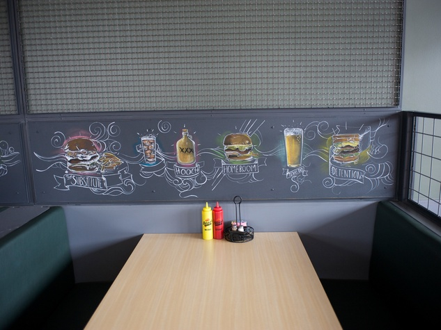 16 first look at Bernie's Burger Bus restaurant June 2014 booth