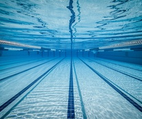 swimming pool lanes underwater