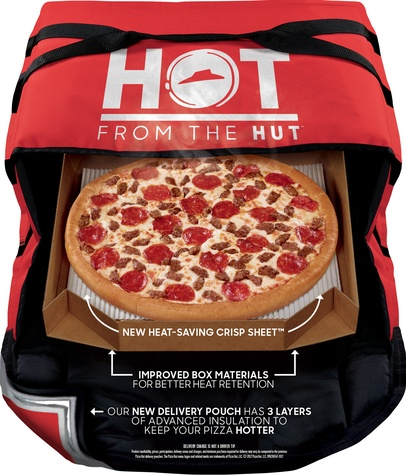 Pizza Hut oven hot delivery system