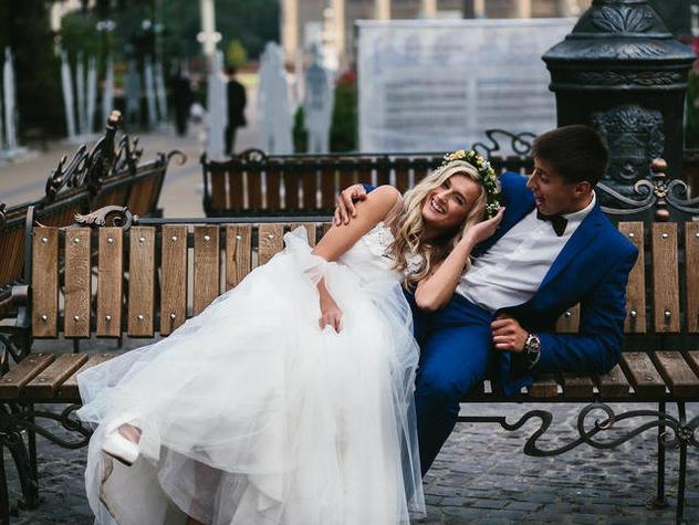 Austin wedding couple
