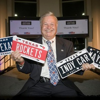 Great Plate Auction, license plates, Texans, Rockets, Indy Car, Maybach, January 2013