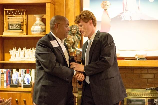 Rodney Ellis and Joe Kennedy III at Texas Civil Right Project fundraiser