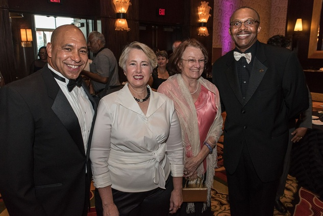 News, Shelby, Ensemble Theatre gala, Aug. 2015, Scott Minnix, Annise Parker, Kathy Hubbard, Michael J. Helm