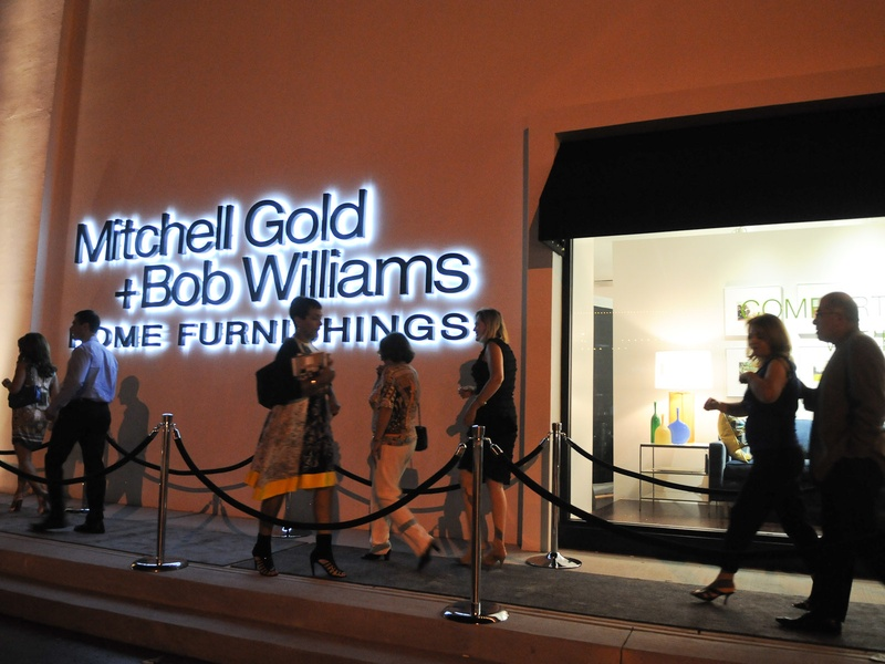 Store Exterior At Night With People At The Mitchell Gold + Bob Williams  Houston Grand Opening