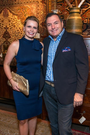 Valerie and Tracy Dieterich at the Abraham's Oriental Rug dinner September 2014