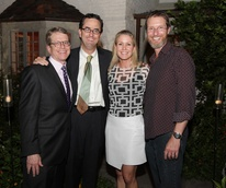 4 Dean Gladden, from left, Andrew Davis, Marita Fairbanks and Jim Johnson at the Laurie Anderson Dinner + Mitchell Artist Lecture September 2014