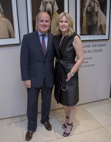 Max Mara William Wegman event John and Kelly Kavaler