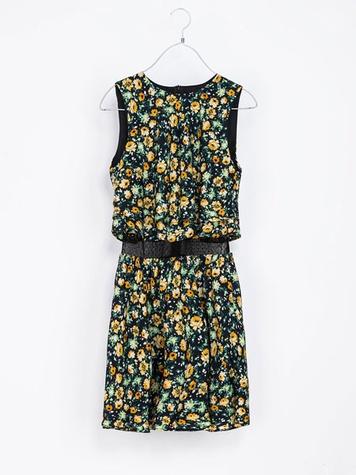 zara COMBINATION FLORAL DRESS