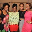 Charnee Brown, from left, Tammy Brown, Jasmine Jones and Rama Musa at the HMAAC Kinsey Collection reception August 2014