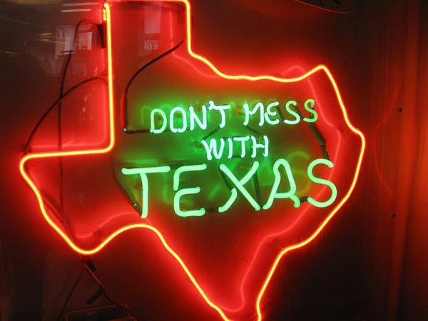 Don't Mess with Texas, neon light, sign
