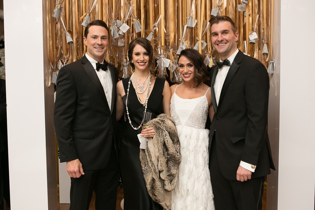 1 Bubba and Jessica Gentry, from left, and Brittany and Shane Williams at the Junior League of Houston Gala February 2015