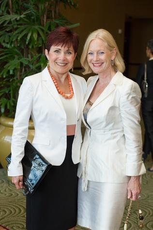11 Jennifer Huber, left,  and Trish Morilleat the Holocaust Museum Moral Courage Award dinner June 2014