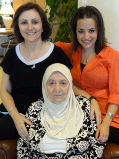 Three generations of Syrian women