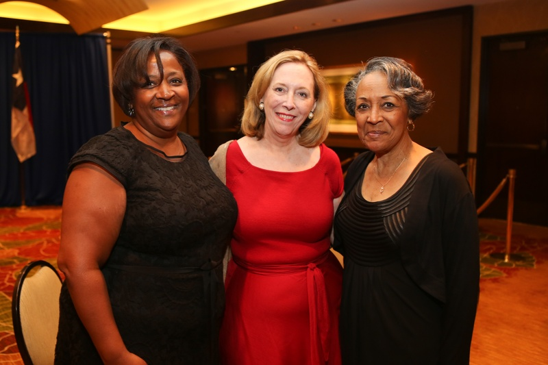 2 Crystal Ashby, from left, Susan Bischoff and Barbara Glass at the Holocaust Museum Moral Courage Award dinner June 2014