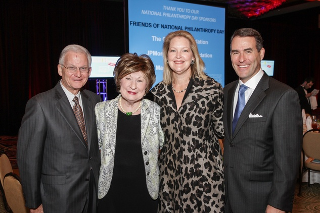 Harry and Cora Sue Mach, from left, and Joella and Steve Mach at the National Philanthropy Day Awards November 2014