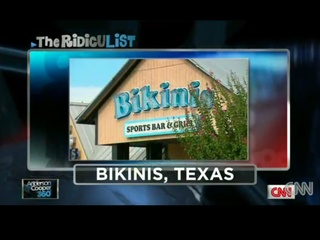 Anderson Cooper, The RidicuList, Bikinis, Texas