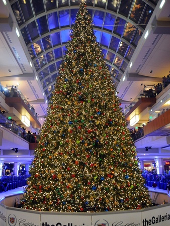 The Galleria, Christmas tree, tree lighting