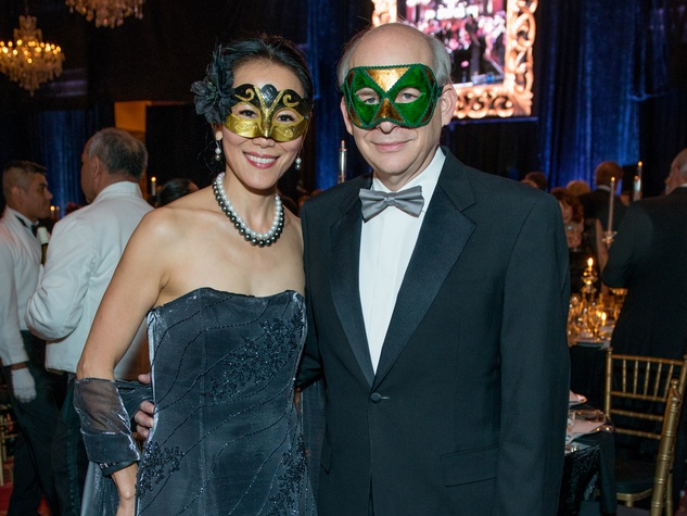 34 Y Ping Sun and David Leebron at the Houston Ballet Ball February 2015