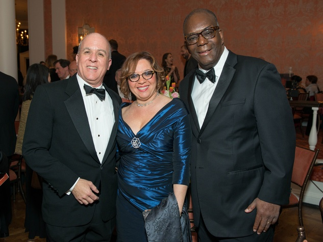 20 Rich Levy, left, with Irene and Ron Johnson at the Inprint Ball February 2015