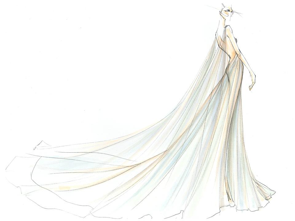 Marchesa inspiration sketch New York Fashion Week spring 2016