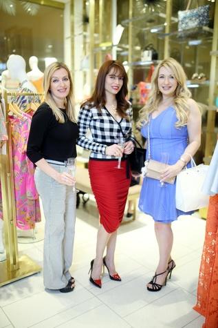 News, shelby, Heroes for Handbags kick-off at Trina Turk, April 2015, Marina Kaplan, Karina Barbieri and Anna Kaplan