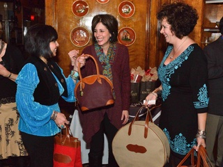 News_King Ranch_preview party_February 2012_Rose Morales_Laura Underbrink_Robin Robertson