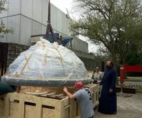 News_Byzantine Chapel_fresco_wrapped_removed