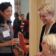 Jill Jewett, left, and Debra Simon at Center for Houston's Future event August 2014