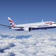 British Airways 787 dreamliner flying above the clouds